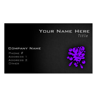 Violet Purple Paintball Double-Sided Standard Business Cards (Pack Of 100)