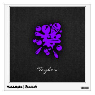 Violet Purple Paintball Wall Sticker