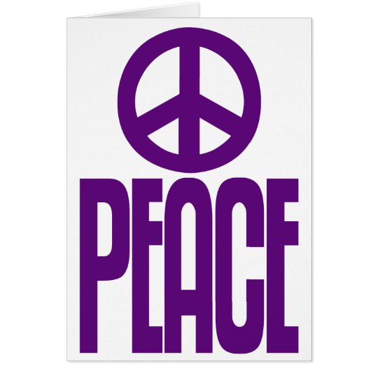 Violet Purple Peace Sign, Loudmouth Greeting Card