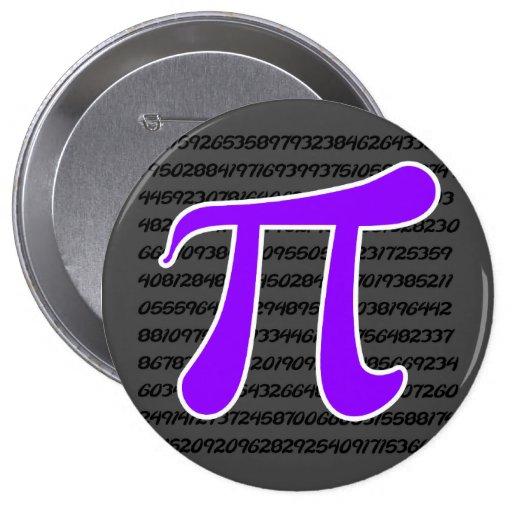 Violet Purple Pi Symbol Pins