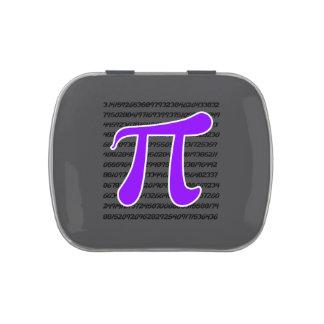 Violet Purple Pi Symbol Jelly Belly Candy Tin