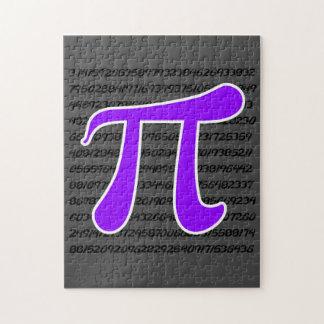 Violet Purple Pi Symbol Jigsaw Puzzle