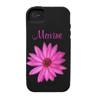 Violet Purple Pink Lotus Flower Black Customized Case-Mate iPhone 4 Cover