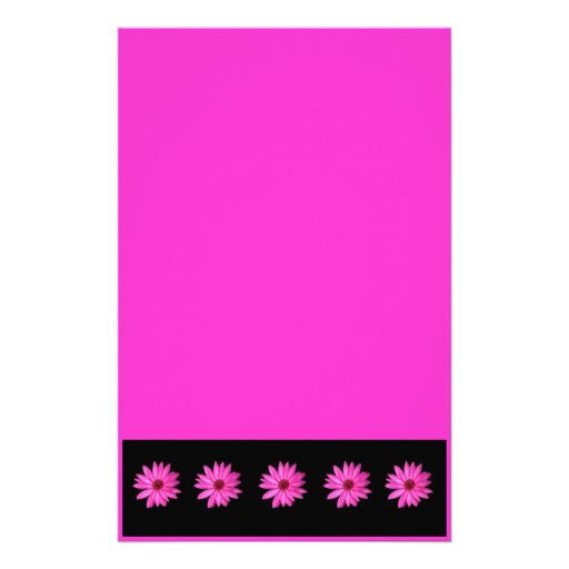 Violet Purple Pink Lotus Flower Stationery