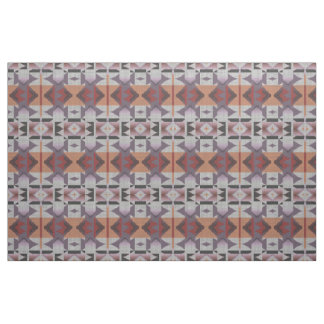 Violet Purple Pink Orange Red Gray Ethnic Look Fabric