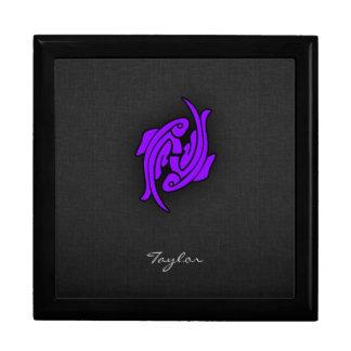 Violet Purple Pisces Jewelry Box