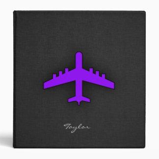 Violet Purple Plane Pilot Binders