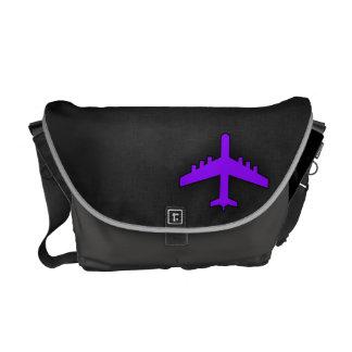 Violet Purple Plane; Pilot Courier Bag