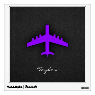 Violet Purple Plane; Pilot Wall Decal