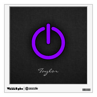 Violet Purple Power Button Wall Decal