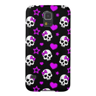 Violet Purple Punk Rock Skulls Galaxy S5 Cases