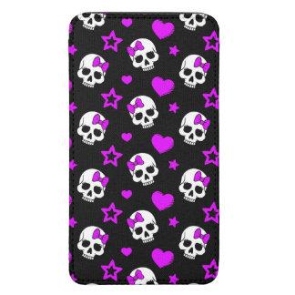 Violet Purple Punk Rock Skulls Galaxy S5 Pouch