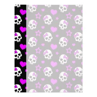Violet Purple Punk Rock Skulls Letterhead