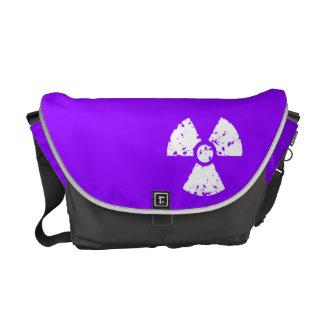 Violet Purple Radioactive Symbol Messenger Bag