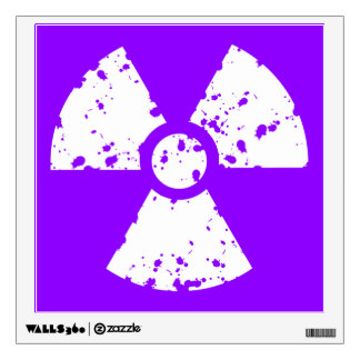 Violet Purple Radioactive Symbol Wall Sticker