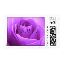 Violet, Purple rose R.S.V.P. Postage