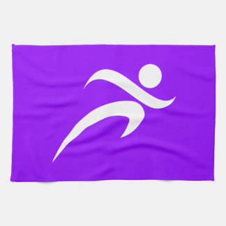 Violet Purple Running Hand Towel