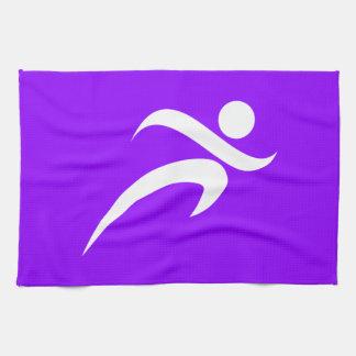 Violet Purple Running Hand Towel