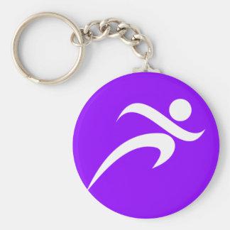 Violet Purple Running Keychain