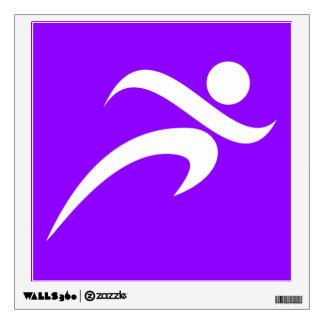 Violet Purple Running Wall Sticker