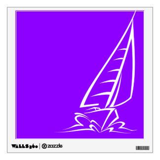 Violet Purple Sailing Wall Sticker