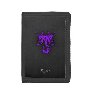 Violet Purple Scorpio Wallets