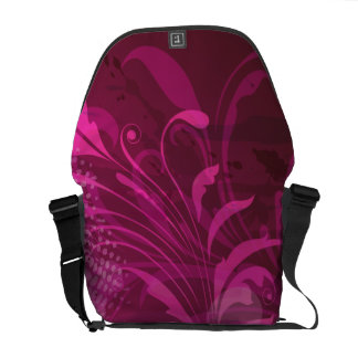 Violet Purple Scroll Grunge Abstract Art Commuter Bag
