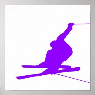 Violet Purple Snow Ski Poster