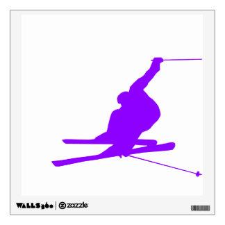 Violet Purple Snow Ski Wall Sticker
