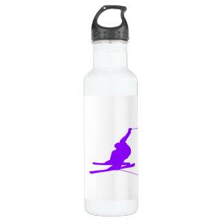 Violet Purple Snow Ski Water Bottle