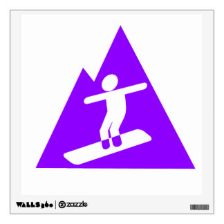 Violet Purple Snowboarder Wall Decal