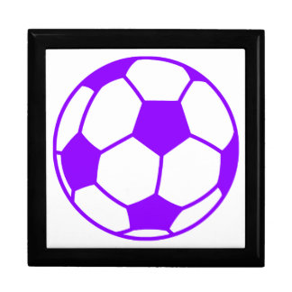 Violet Purple Soccer Ball Gift Box