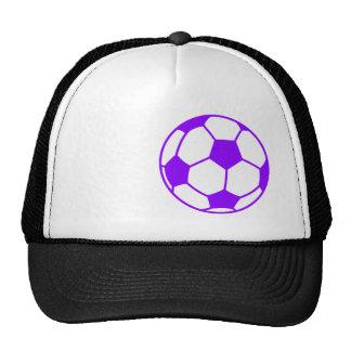 Violet Purple Soccer Ball Trucker Hat