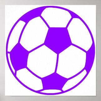 Violet Purple Soccer Ball Print