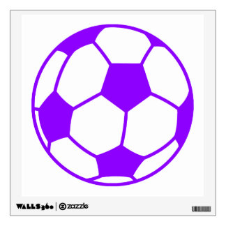Violet Purple Soccer Ball Wall Decal