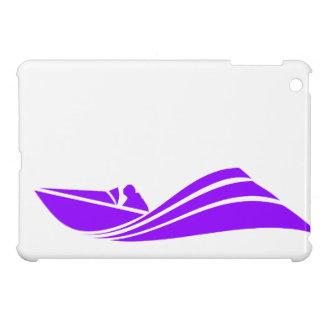 Violet Purple Speed Boat iPad Mini Cases
