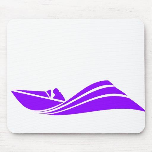 Violet Purple Speed Boat Mousepads