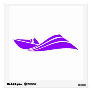 Violet Purple Speed Boat Wall Sticker
