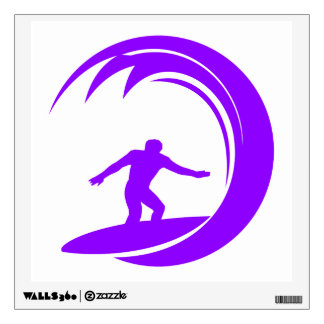 Violet Purple Surfer Wall Sticker