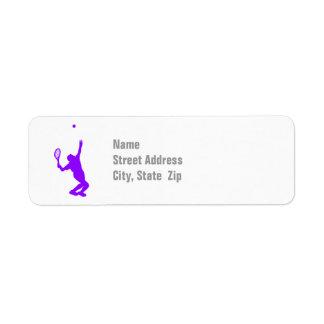 Violet Purple Tennis Label