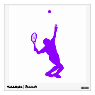 Violet Purple Tennis Wall Sticker