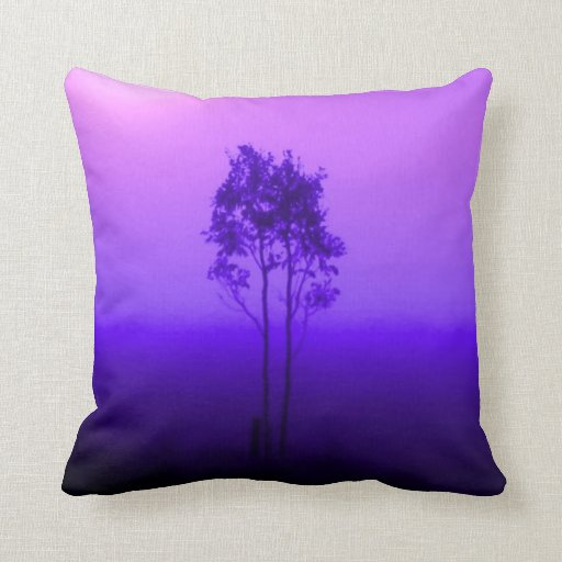 Purple And Lime Green Throw Pillows : Violet Purple Trees Pillow Throw Pillows Zazzle