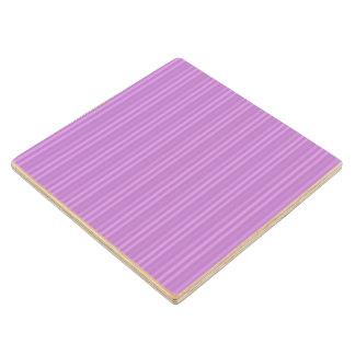Violet Purple Vertical Stripes Pattern Wood Coaster