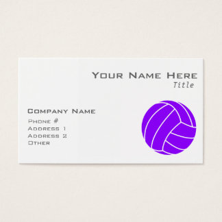 Violet Purple Volleyball Business Card
