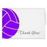 Violet Purple Volleyball Card