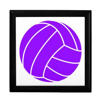 Violet Purple Volleyball Keepsake Box