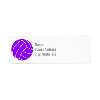 Violet Purple Volleyball Label