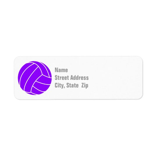 Violet Purple Volleyball Label