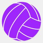 Violet Purple Volleyball Sticker