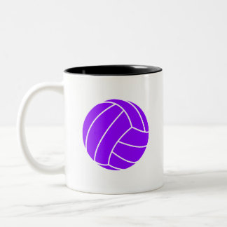 Violet Purple Volleyball Two-Tone Coffee Mug